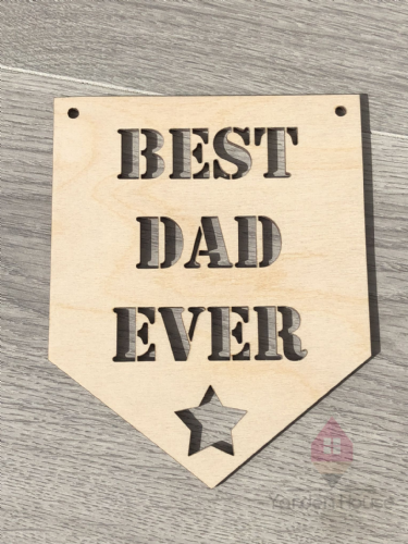 Best Dad Ever hanging plaque
